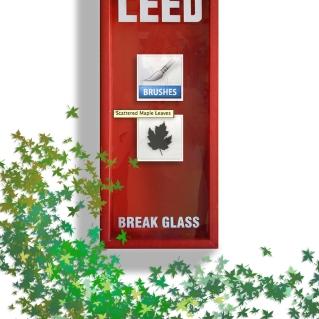 IN CASE OF LEED BREAK GLASS BY P.M. GAYNOR