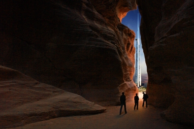 Amazing view of Kingdom Tower from Petra