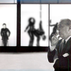 "HONORABLE MENTIONS: THE WISH THIS WAS REAL AWARD: ""MIES CONTEMPLATES THE CHICKEN OR THE EGG"" BY ROB ANDERSON"