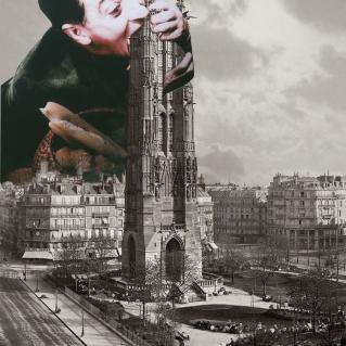 "BEST WEIRD DUDE ATTEMPTING TO EAT ENTRY AWARD: ""ST. JACQUES EATS PARIS BAGUETTE"" BY ANNA PILAWSKA"