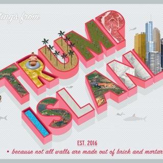 "Honorable Mention: ""Greetings from Trump Island"" by Donna Mena"