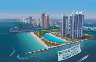"Honorable Mention: ""Welcome to Sunny Trump Isles!"" by Mykhailo Ponomarenko"